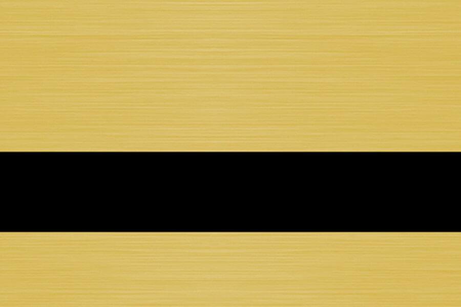 0,8mm Satine Altın (Siyah) Kazıma Plakası