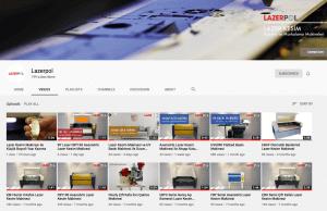 Lazer Kesim Videoları Youtube'da