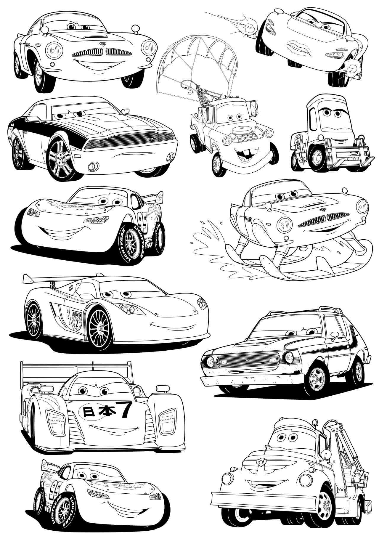 Arabalar Çizgi Film Karakterleri