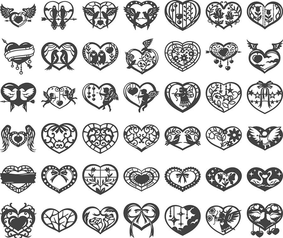 Sevgililer Günü Kalp Figürleri