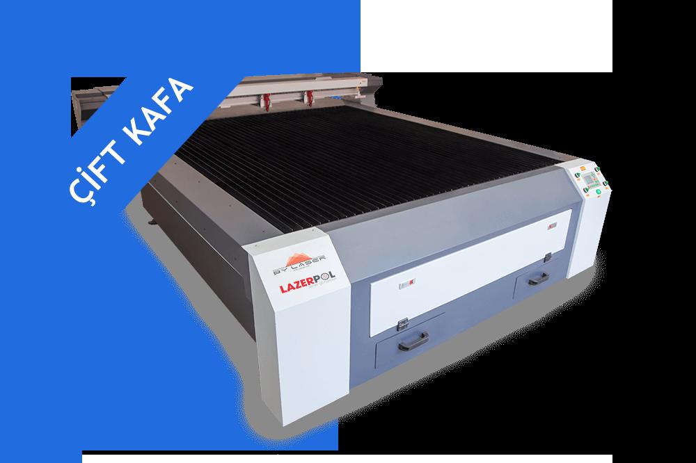 Flatbed Lazer Kesim Makinesi Çift Kafa